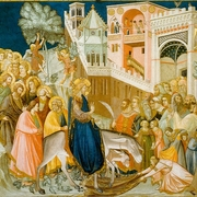 assisi frescoes entry into jerusalem pietro lorenzetti thumb